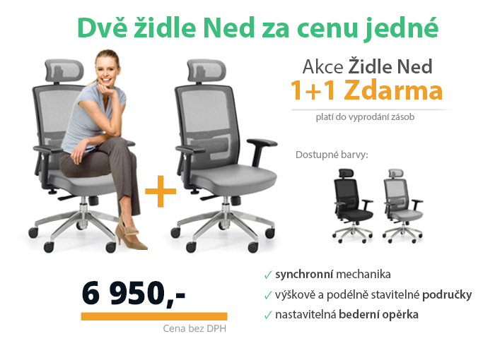 židle ned 1+1